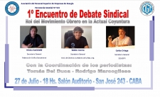 1° Encuentro de Debate Sindical