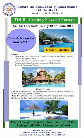 Tour - Cancún y Playa del Carmen