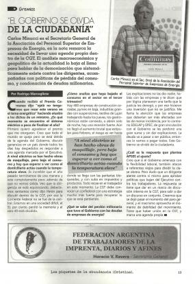 Reportaje En Comunas del País - Diciembre 2016