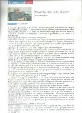 Reportaje Radio Comunas AM - 8-2-17