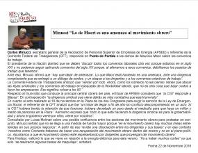 Reportaje en Radio Gráfica 22-11-16